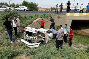 87467 146 300x200 مرگراننده در سقوط خودرو در جاده شوش اندیمشک/عکس