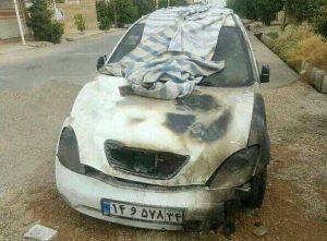 photo ۲۰۱۷ ۰۵ ۰۳ ۱۶ ۰۱ ۱۳ 300x221 خودرو شخصی مصطفی ماهی بازیکن دزفولی استقلال خوزستان به دلیل نقص فنی آتش گرفت