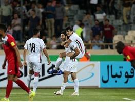 17 6 5 0464163576 221 پیروزی ایران برابر مونتهنگرو با دبل سردار آزمون