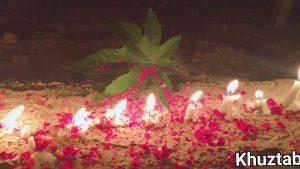 photo 2017 06 08 09 44 58 300x169 روشن کردن شمع به یاد جانباختگان حادثه تروریستی تهران در ایذه