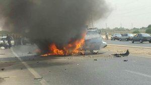 n82688269 71912545 300x169 برخورد پراید و نیسان در خوزستان 2 نفر را به کام مرگ فرستاد