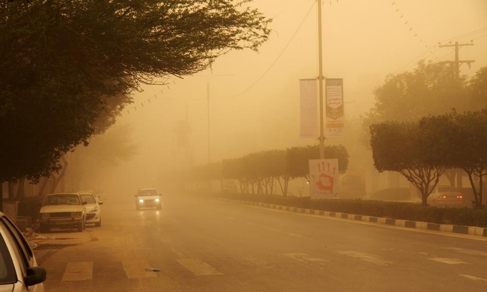 گرد و خاک ایجاد یک چشمه جدید گرد و غبار در شمال اهواز