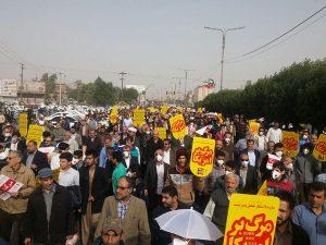 104410 793 300x225 راهپیمایی باشکوه مردم خوزستان در حمایت از قدس