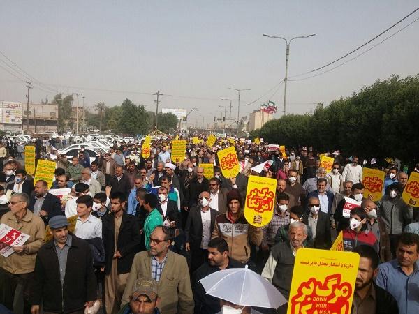 104410 793 راهپیمایی باشکوه مردم خوزستان در حمایت از قدس