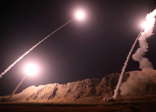 57755426 حمله موشکی سپاه به مقر سرکردگان جنایت تروریستی اهواز در شرق فرات