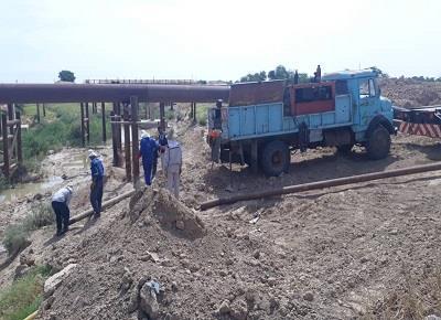56e9b3bb 2ce1 4a8a 9bc9 181f8cbbb9ca 20190512 142219 ایمن سازی دو خط لوله 26 اینچ نفت در مقطع رودخانه كوپال