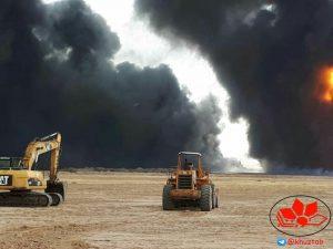 IMG 20190506 131207 839 300x225 جزئیات آتش سوزی در خط لوله شرکت نفت و گاز آغاجاری