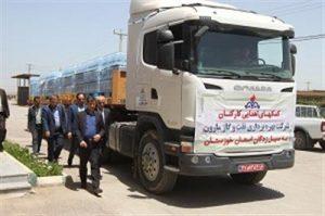 b95505fe d462 4336 8376 8a21251f090b 20190507 091243 300x199 ارسال سومین محموله شرکت نفت و گاز مارون به مناطق سیل زده خوزستان