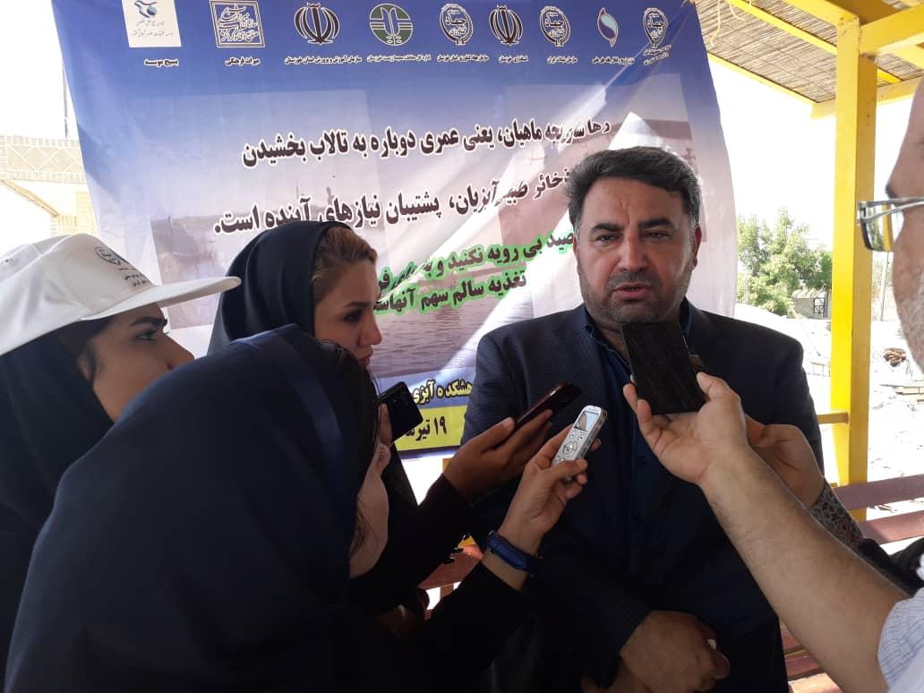 100382 119 پیش بینی تولید ۸۰ هزارتنی آبزیان در خوزستان /سال رویایی شیلات خوزستان در پرورش ماهیان گرمابی
