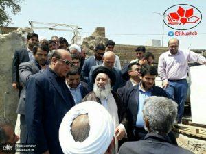 IMG 20190719 141341 538 300x225 بازدید رئیس ستاد اجرایی فرمان امام(ره)، استاندار خوزستان ، آیت الله جزایری از مناطق زلزله زده مسجدسلیمان