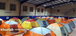 IMG 20190724 190846 300x145 ۷۰ نفر در اردوگاه اسکان اضطراری مسجدسلیمان ساکن هستند