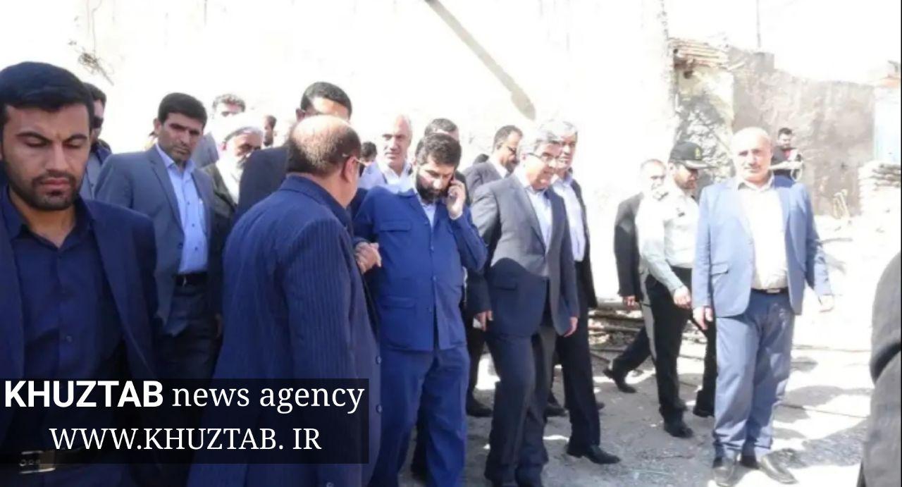 IMG 20190804 230057 867 بازدید استاندار خوزستان از مناطق زلزلهزده مسجدسلیمان+تصاویر