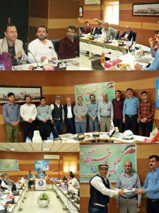 IMG 20190823 150034 779 225x300 تجلیل از خبرنگاران رامهرمز و هفتکل در شرکت سیمان خوزستان
