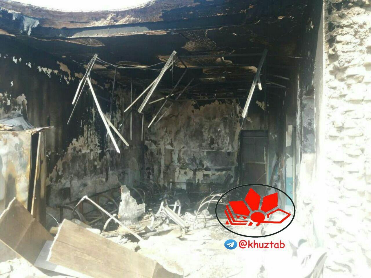 IMG 20190908 133702 963 دهیاری سنجر دزفول به آتش کشیده شد