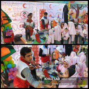 PhotoGrid 1570305130051 300x300 حضور چشمگیر جوانان جمعیت هلال احمر اهواز در نمایشگاه ملی کودک