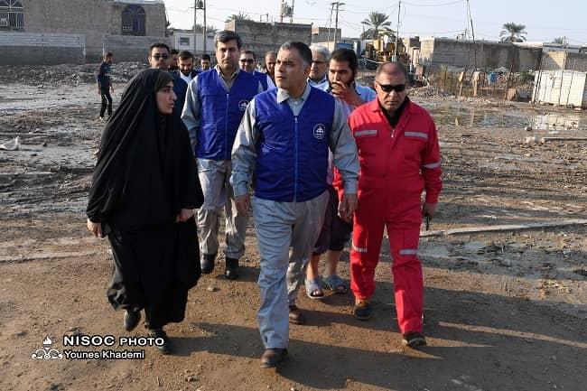 IMG 20191222 WA0018 شركت های تابعه شركت ملی نفت ایران در رفع آبگرفتگی ها حضوری فعال دارند