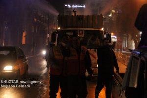 IMG 20200308 WA0023 300x200 استمرار عملیات ضدعفونی و گندزدایی معابر شهر اهواز توسط سازمان آتش نشانی