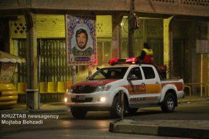 IMG 20200308 WA0031 300x200 استمرار عملیات ضدعفونی و گندزدایی معابر شهر اهواز توسط سازمان آتش نشانی