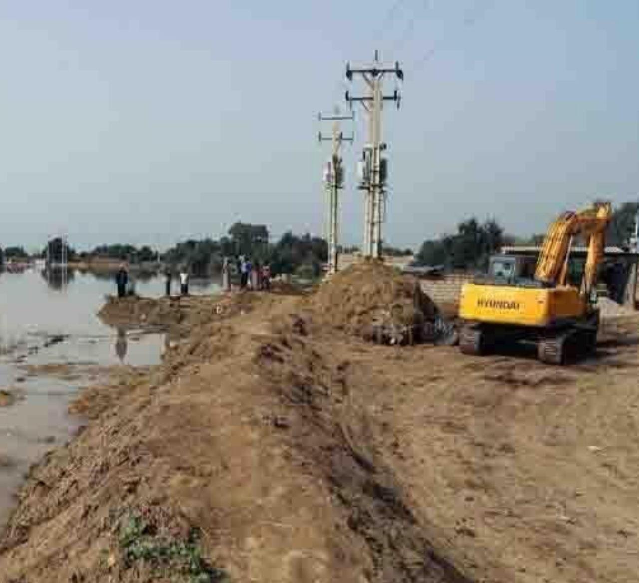 IMG 20200329 181755 063 ترس از طغیان رودکارون باعث ترمیم سیل بندهای روستاهای خرمشهر شد