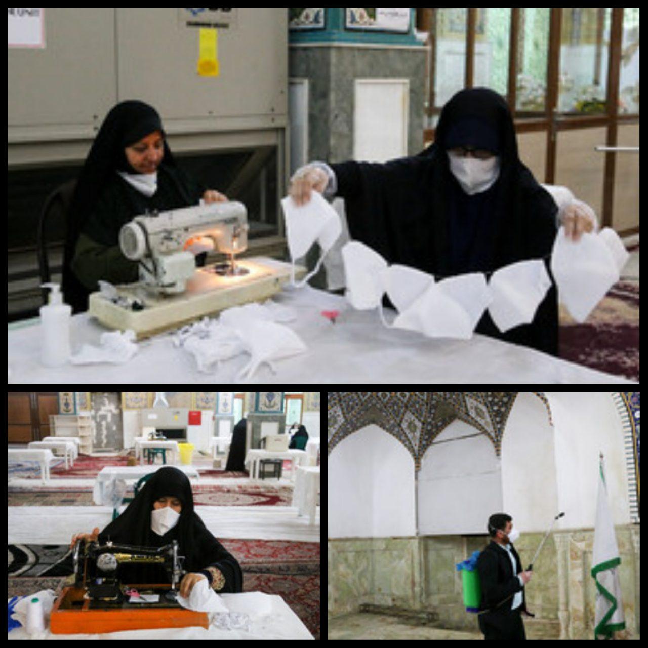 PhotoGrid 1584812536875 1280x1280 تولید ماسک در حرم علی بن مهزیار اهوازی (ع)