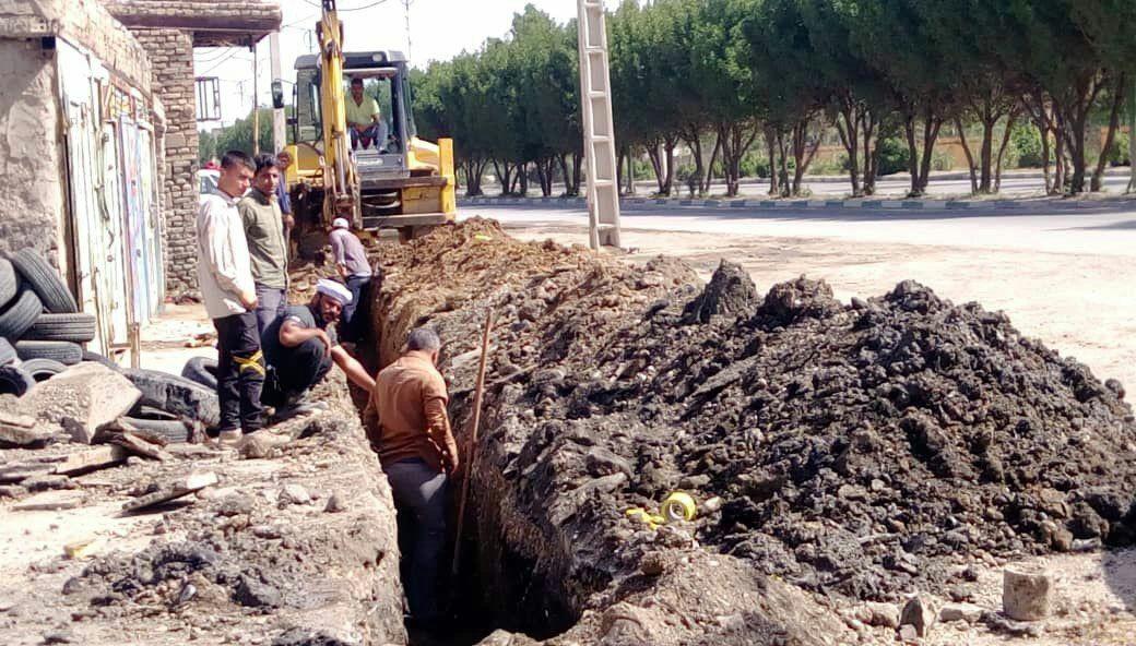 IMG 20200403 222132 913 پروژه اصلاح شبکه آبرسانی ملاشیه اهواز کامل شد