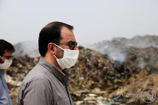 ImageHandler.ashx6  گزارش تصویری بازدید شهردار اهواز از محل دفن پسماند صفیره در پی آتش سوزی