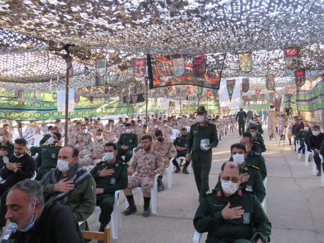 IMG 20200825 WA0466 مراسم عزاداری دهه اول ماه محرم گروه توپخانه ۶۴ الحدید نیروی زمینی سپاه برپا شد