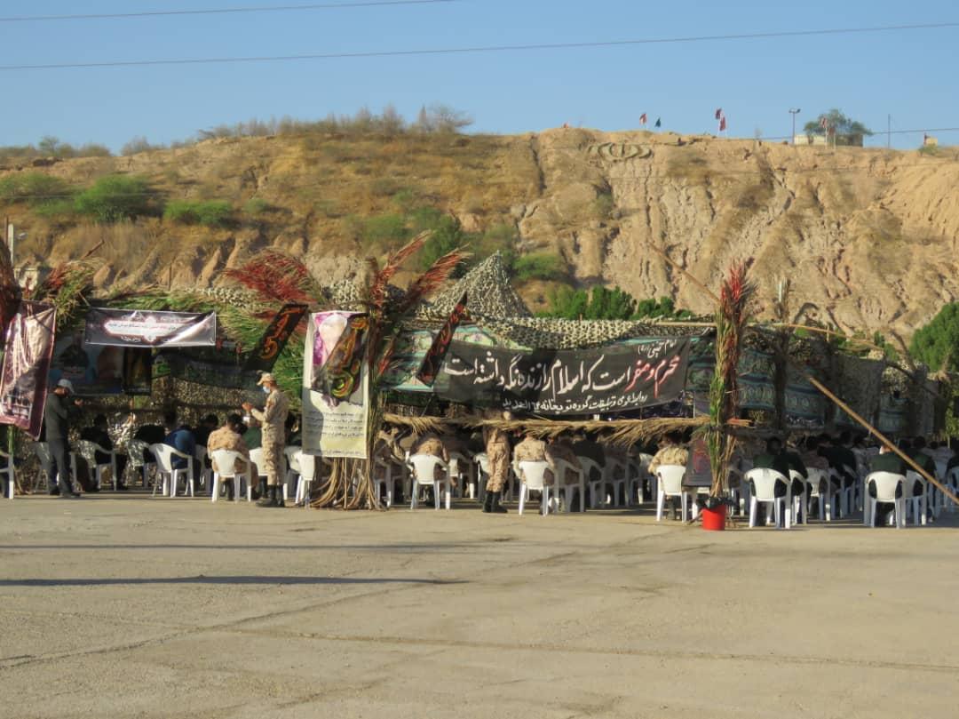 IMG 20200825 WA0467 مراسم عزاداری دهه اول ماه محرم گروه توپخانه ۶۴ الحدید نیروی زمینی سپاه برپا شد