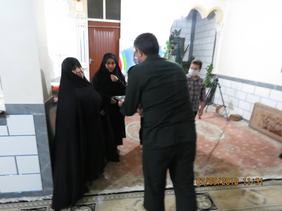 IMG 20200906 WA0082 سبزپوشان مرکز معراج سپاه با خانواده شهید فرجی زنگنه دیدار کردند