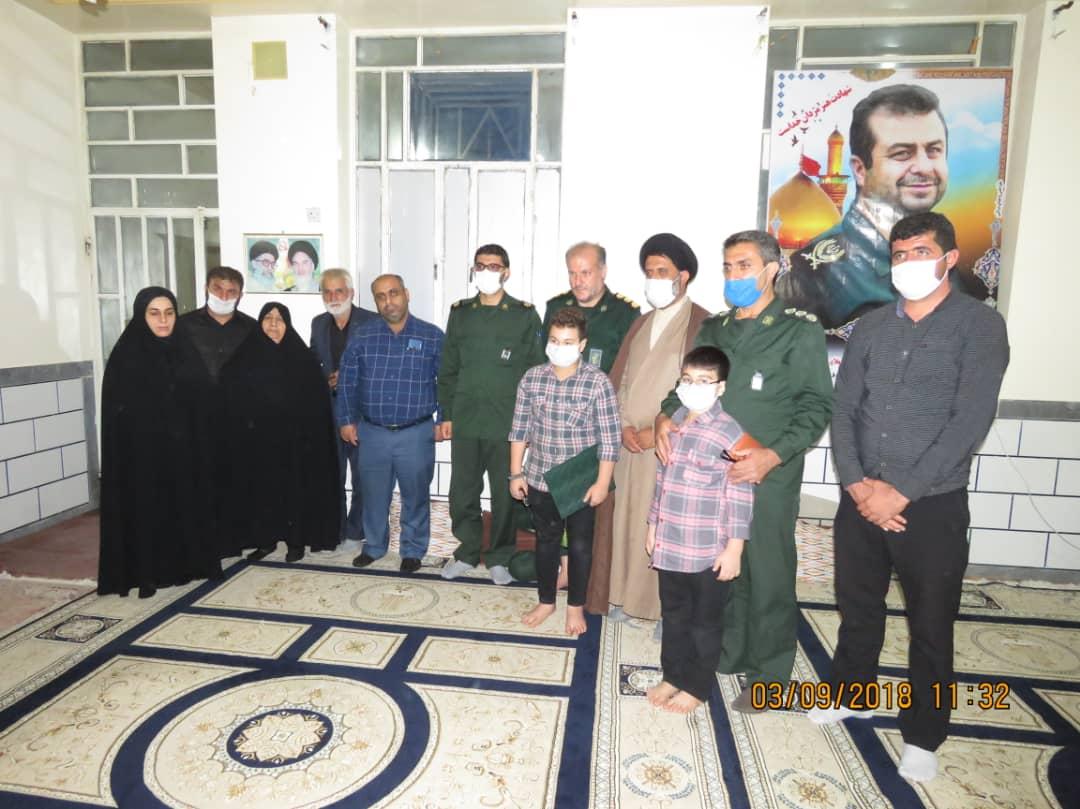 IMG 20200906 WA0085 سبزپوشان مرکز معراج سپاه با خانواده شهید فرجی زنگنه دیدار کردند