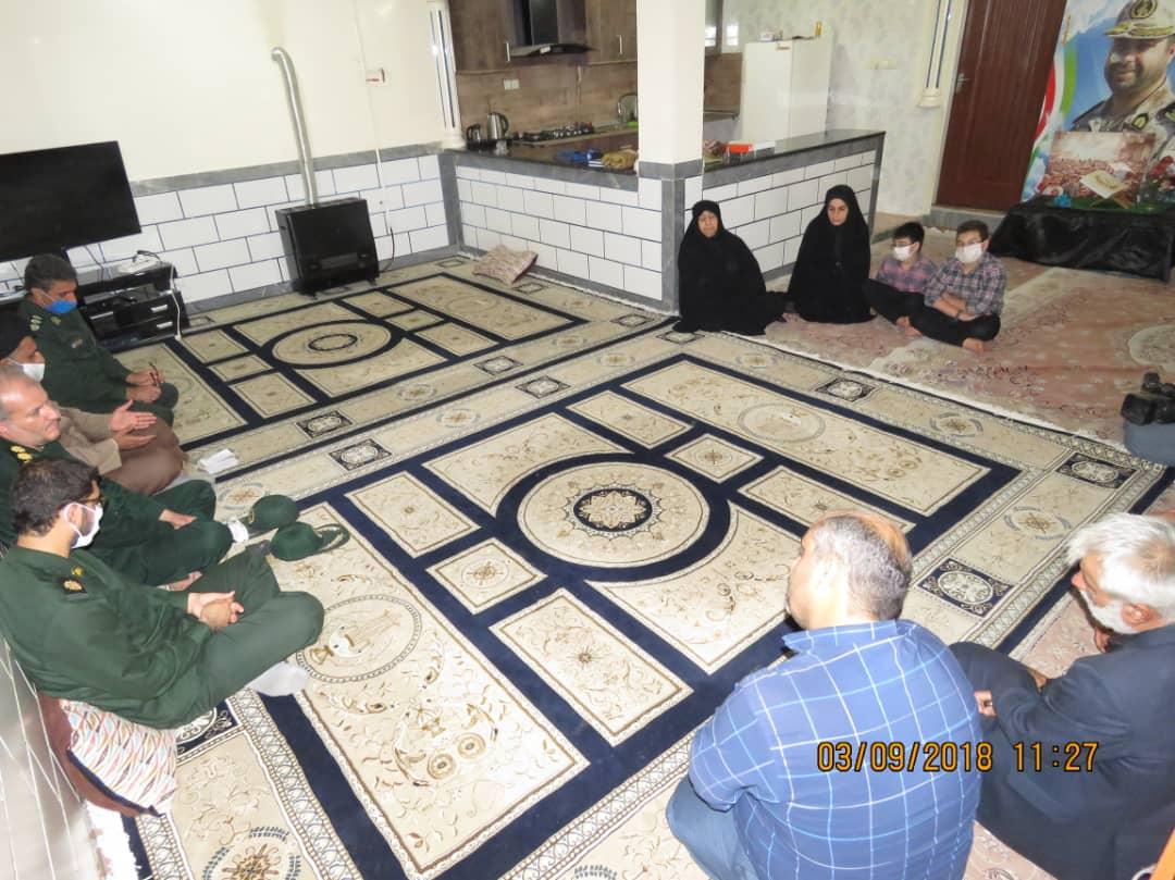 IMG 20200906 WA0089 سبزپوشان مرکز معراج سپاه با خانواده شهید فرجی زنگنه دیدار کردند