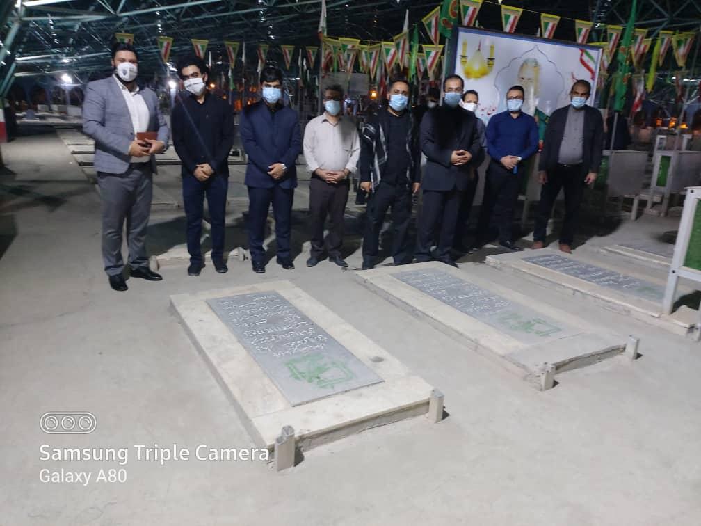 IMG 20200927 WA0012 برگزاری آیین غبار روبی و عطر افشانی گلزار شهدای اهواز