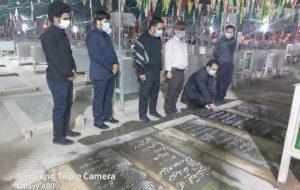 IMG 20200927 WA0013 300x190 برگزاری آیین غبار روبی و عطر افشانی گلزار شهدای اهواز