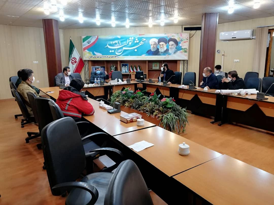 IMG 20201203 WA0022 تشکیل جلسه ستاد مدیریت بحران برای رفع آبگرفتگی معابر و خیابان های اهواز