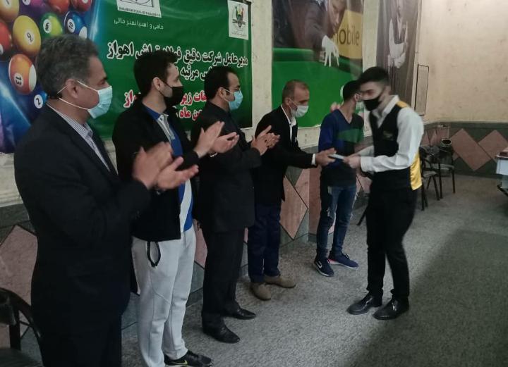 ۲۰۲۱۰۱۲۴ ۰۸۱۴۳۶ اولین دوره رنکینگ اسنوکر زیر 21سال اهواز در خانه بیلیارد خوزستان برگزار شد