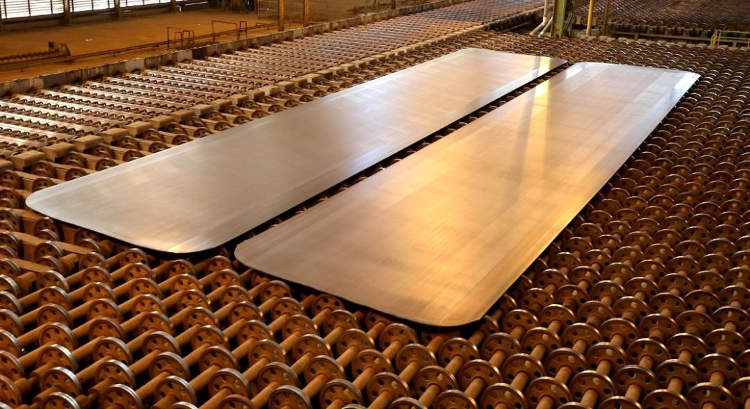 IMG 20210216 WA0105 بزرگترین و مقاوم ترین ورق فولادی ایران در فولاد اکسین تولید شد