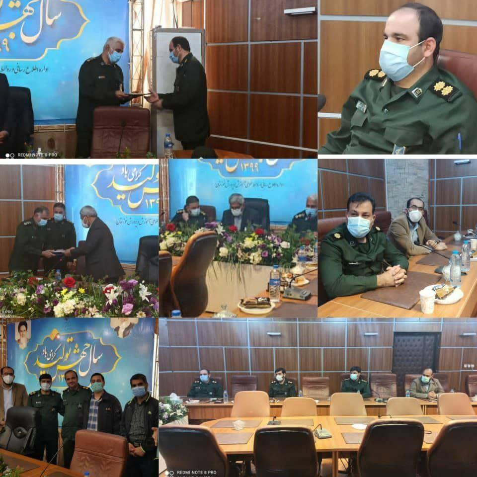 IMG 20210228 WA0047 سرهنگ پاسدار امیر قمرزاده رییس سازمان بسیج دانش آموزی استان خوزستان شد