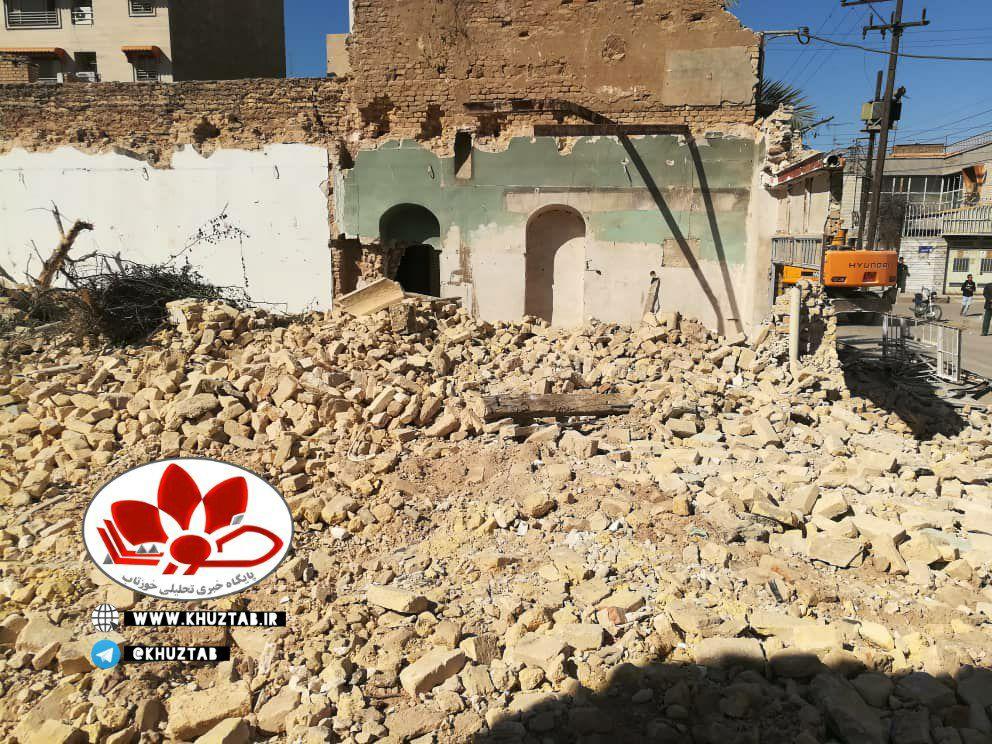 IMG 20210212 160347 956 خانه احمد محمود در اهواز تخریب شد./فروش هویت و میراث یک شهر از نظر شهرداری اهواز چند تومان می ارزد؟
