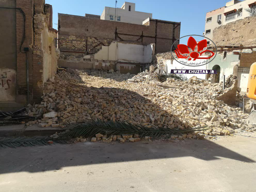 IMG 20210212 160350 051 خانه احمد محمود در اهواز تخریب شد./فروش هویت و میراث یک شهر از نظر شهرداری اهواز چند تومان می ارزد؟