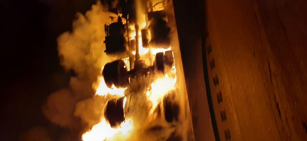 IMG 20210301 WA0109 واژگونی و انفجار تانکر حامل سوخت یک فوتی بر جای گذاشت