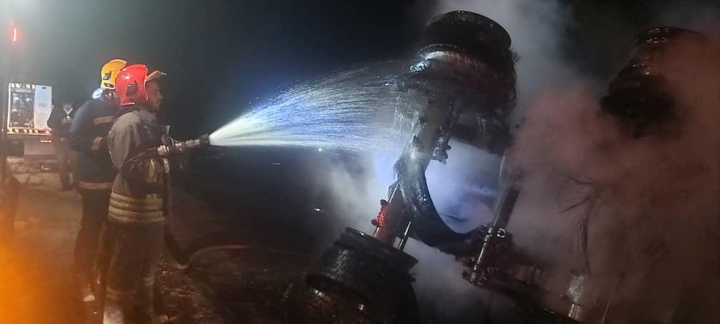 IMG 20210301 WA0110 واژگونی و انفجار تانکر حامل سوخت یک فوتی بر جای گذاشت