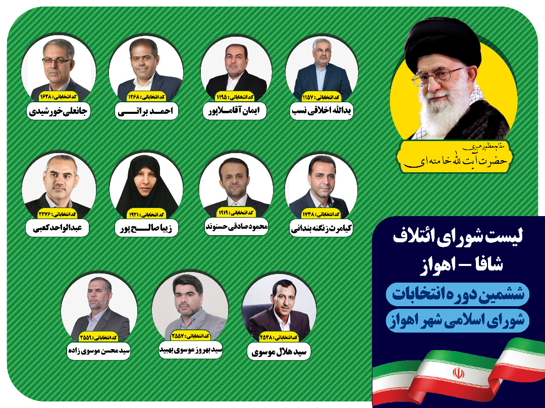 IMG 20210614 WA0230 کاندیداهای منتخب لیست شورای ائتلاف فرهنگیان استان خوزستان(شافا) مشخص شدند