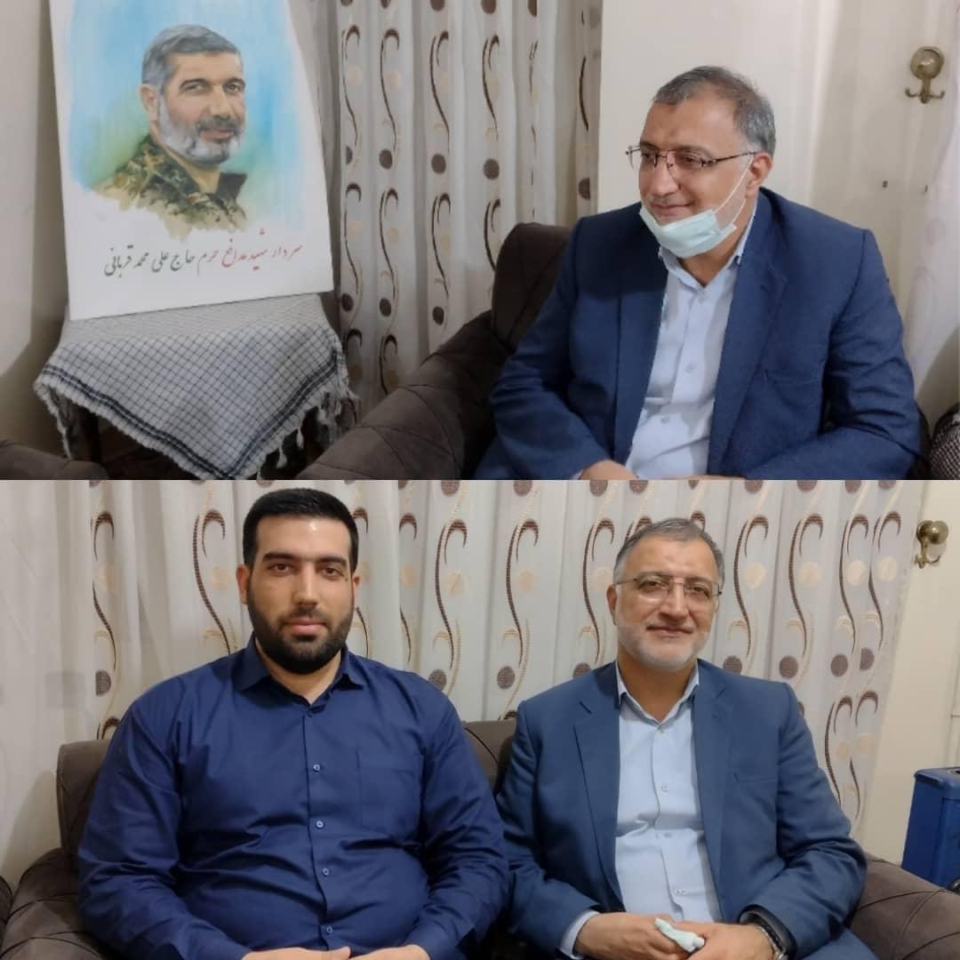 IMG 20210702 WA0009 دیدار علیرضا زاکانی با خانواده شهید مدافع حرم سردار علی محمد قربانی در اهواز