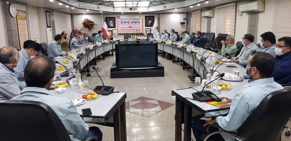 IMG 20210803 WA0052 جلسه پدافند غیرعامل شرکت فولاد خوزستان با حضور سردار جواد مشیدی برگزار شد