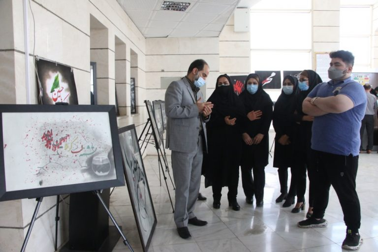 240541021023 12 768x512 1 بازدید مشاور و مدیرکل حوزه استاندار خوزستان از نمایشگاه عکس عاشورا
