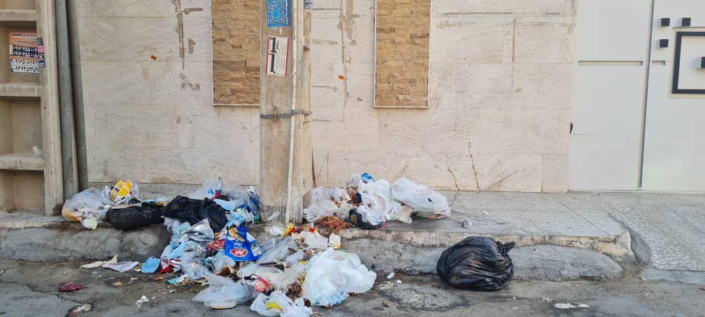 IMG 20211007 115355 308 سرریز زباله از خیابان های کمپلو(اهواز)