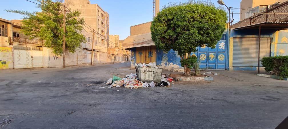 IMG 20211007 115414 573 سرریز زباله از خیابان های کمپلو(اهواز)