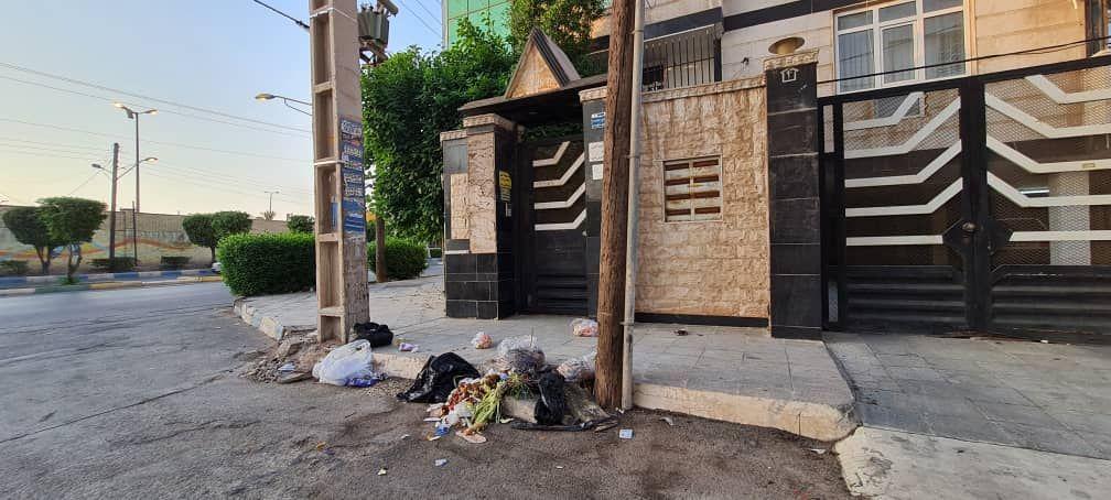 IMG 20211007 115609 517 سرریز زباله از خیابان های کمپلو(اهواز)