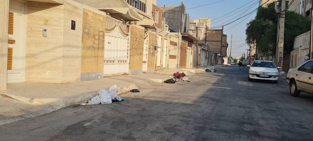 IMG 20211007 115613 686 سرریز زباله از خیابان های کمپلو(اهواز)